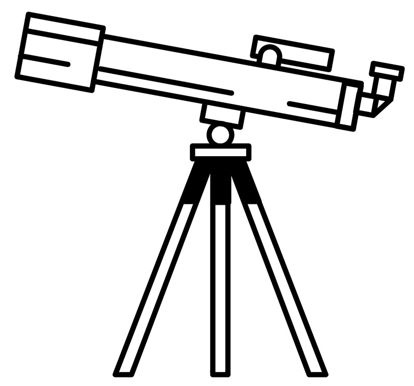 A telescope, looking ahead